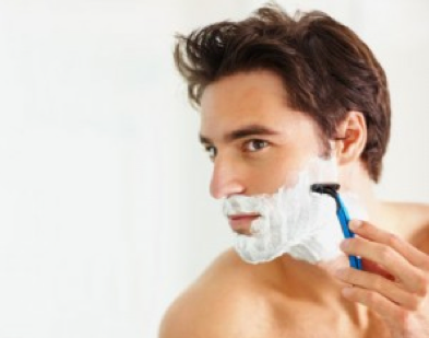 A man with sensitive skin trying to avoid the side effects of shaving.