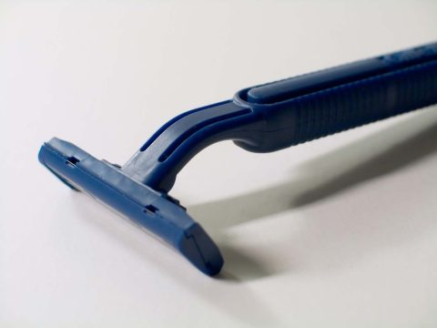 Using a sharp razor like this can help prevent nicks and cuts when you shave.
